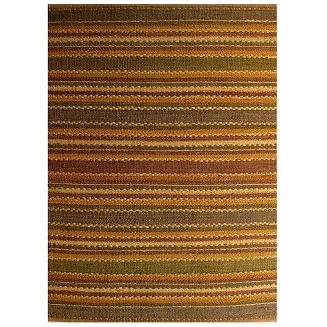 Handwoven Mohawk Brown Jute Area Rug (6' x 9')