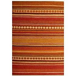 Hand-woven Orange Jute Rug (6' x 9')