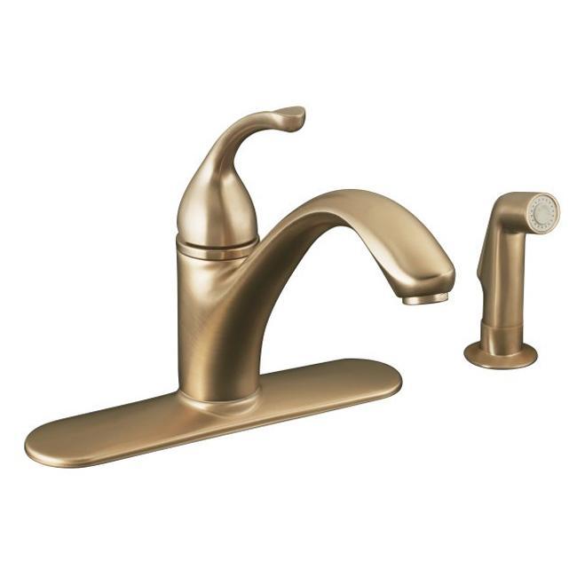 10412-BV Vibrant Brushed Bronze Forte Single-Control Kitchen Sink ...
