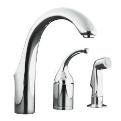 Kohler K-10441-CP Polished Chrome Forte Entertainment Remote Valve Sink Faucet With Sidespray