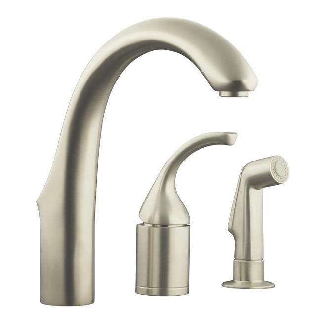Kohler K-10441-VS Vibrant Stainless Forte Entertainment Remote Valve Sink Faucet With Sidespray