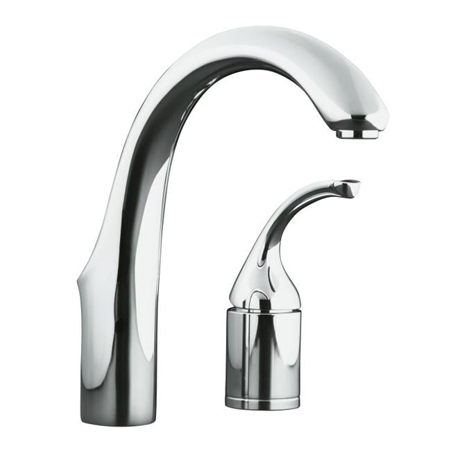 Kohler K-10443-CP Polished Chrome Forte Entertainment Kitchen Sink Faucet, Less Sidespray