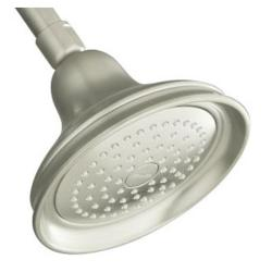 Kohler K-10590-BN Vibrant Brushed Nickel Bancroft Single-Function Showerhead