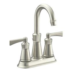 "Kohler K-11075-4-BN Vibrant Brushed Nickel Archer Lavatory Faucet With 4"" Centers"