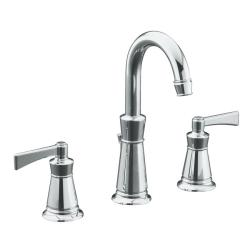 "Kohler K-11076-4-CP Polished Chrome Archer Lavatory Faucet With 8"" Centers"