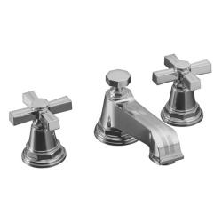 Kohler K-13132-3B-CP Polished Chrome Pinstripe Widespread Lavatory Faucet With Cross Handles