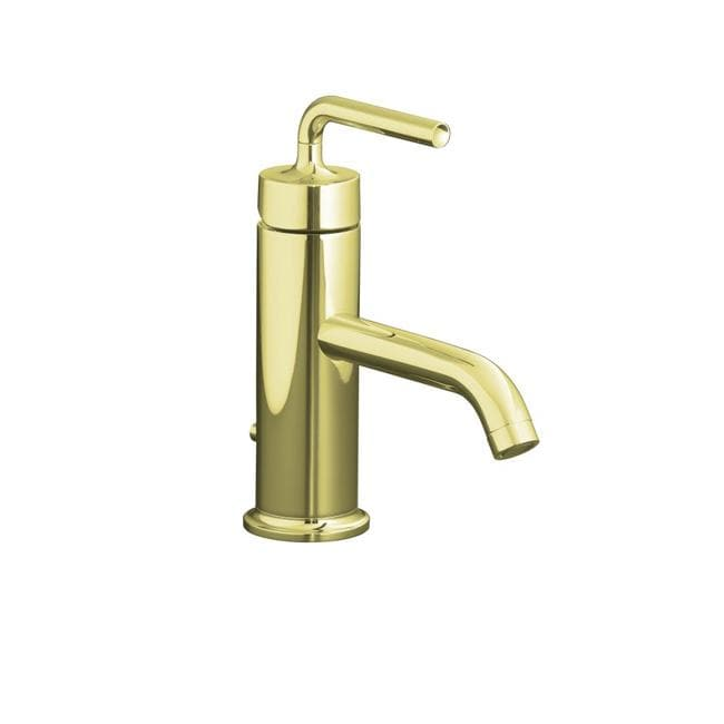 Kohler K-14402-4A-AF Vibrant French Gold Purist Single-Control Lavatory Faucet With Straight Lever Handle