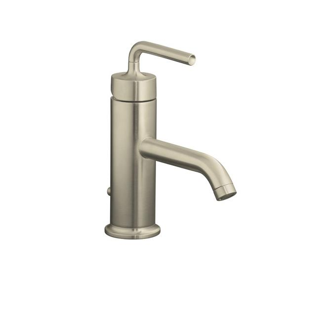 Kohler K-14402-4A-BN Vibrant Brushed Nickel Purist Single-Control Lavatory Faucet With Straight Lever Handle