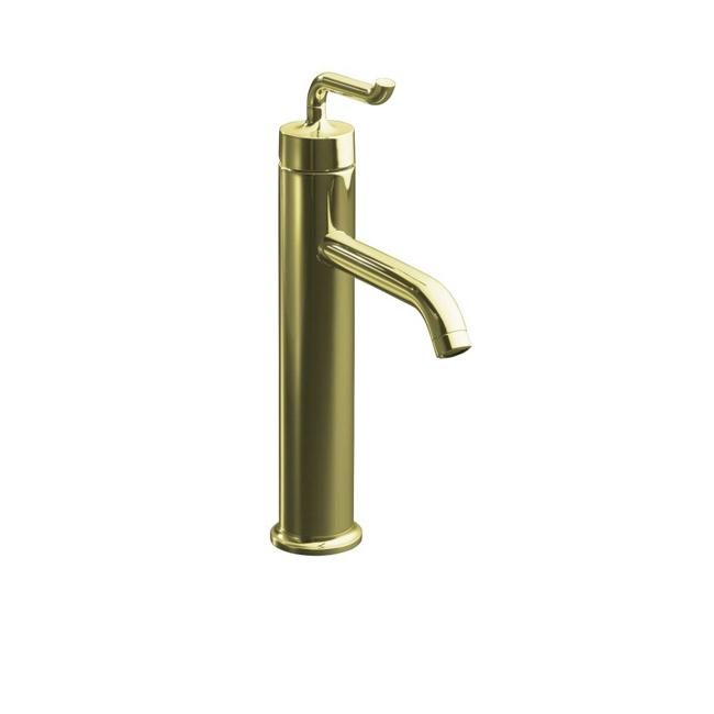 Bathroom Faucets Gold : AF Vibrant French Gold Purist Tall Single-Control Lavatory Faucet ...