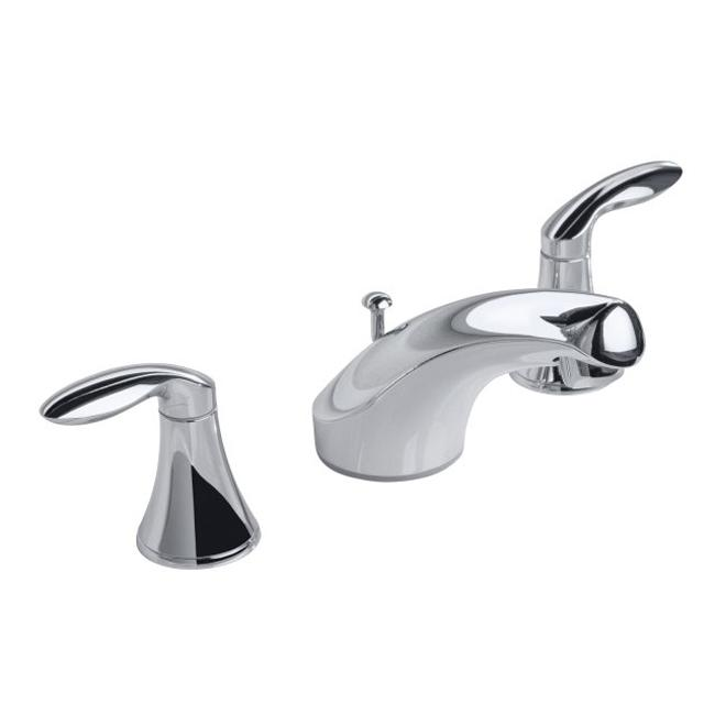 ... Chrome Pinstripe Pure Widespread Lavatory Faucet With Lever Handles