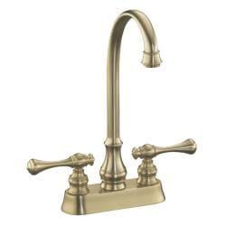 Kohler K-16112-4A-BV Vibrant Brushed Bronze Revival Entertainment Sink Faucet With Traditional Lever Handles