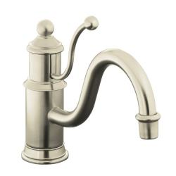 Kohler K-168-BN Vibrant Brushed Nickel Antique Single-Control Kitchen Sink Faucet With Lever Handle