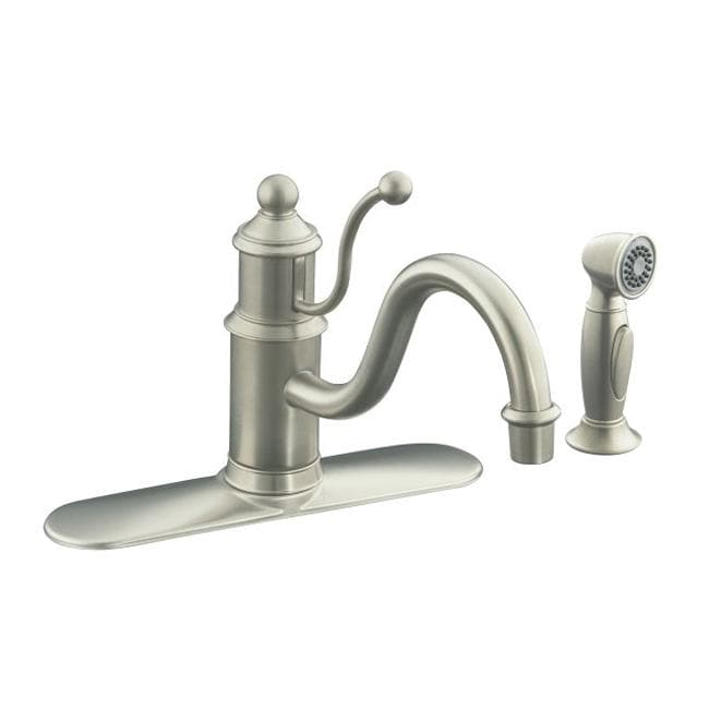 Kohler K-171-BN Vibrant Brushed Nickel Antique Single-Control Kitchen ...