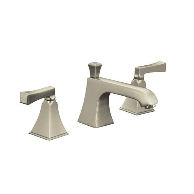 Bathroom Faucets Brushed Nickel Widespread : ... Brushed Nickel Memoirs Widespread Lavatory Faucet With Stately Design