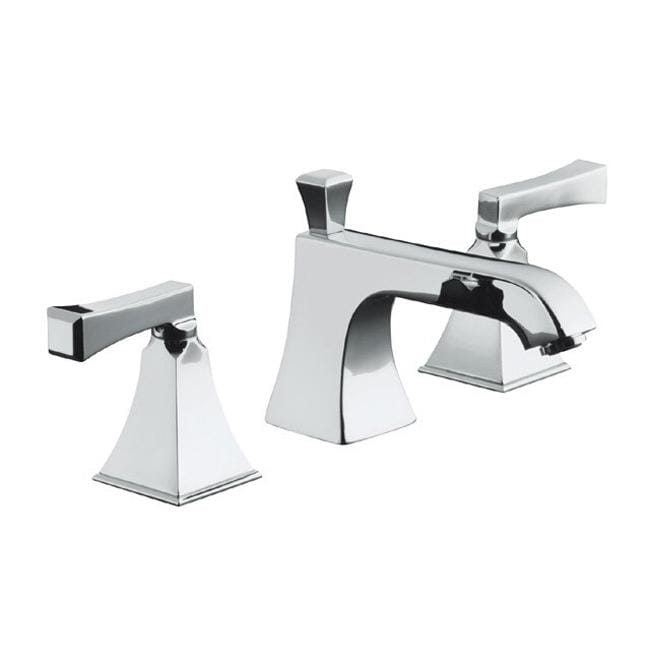kohler k 454 4v cp polished chrome memoirs widespread lavatory faucet