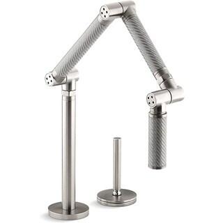 Kohler K-6227-C11-VS Vibrant Stainless Karbon Articulating Deck-Mount Kitchen Faucet