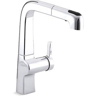 Kohler K-6331-CP Polished Chrome Evoke Single-Control Pullout Kitchen Faucet