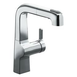 Kohler K-6332-CP Polished Chrome Evoke Single Control Pullout Secondary Kitchen Faucet