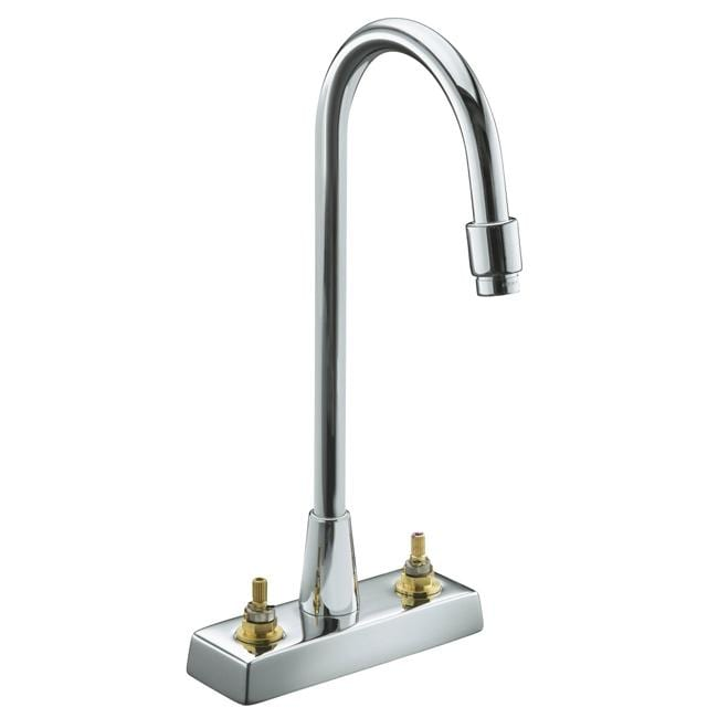 Kohler K-7305-K-CP Polished Chrome Triton Centerset Lavatory Faucet With Aerator, Requires Handles, Less Drain And Lift Rod