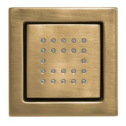 Kohler K-8003-BV Vibrant Brushed Bronze Watertile Square 22-Nozzle Bodyspray