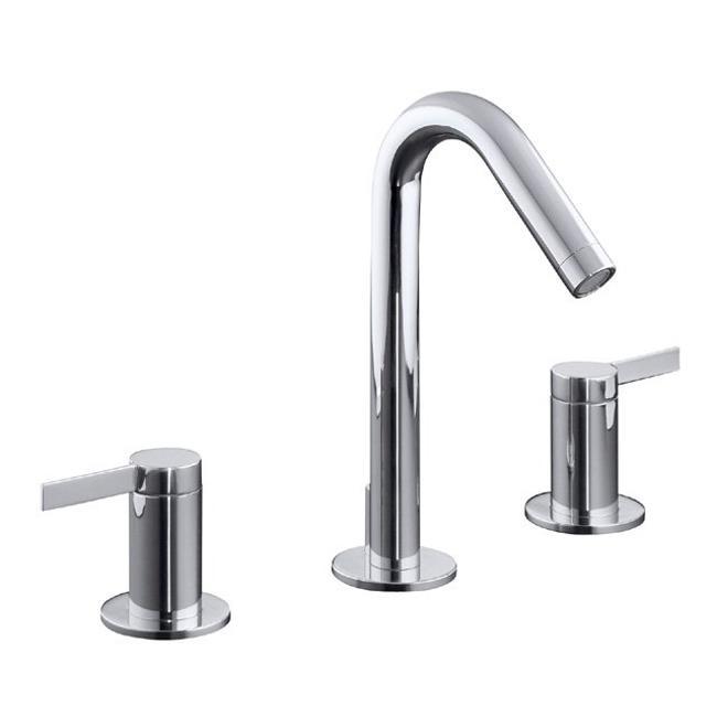 Kohler Chrome Bathroom Faucets : Kohler K-942-4-CP Polished Chrome Stillness Widespread Lavatory Faucet ...