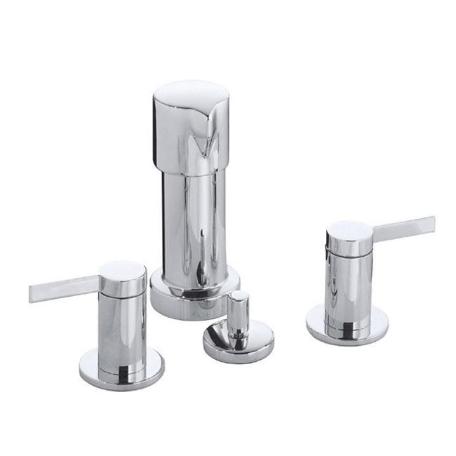 Kohler K-960-4-CP Polished Chrome Stillness Widespread Bidet Faucet