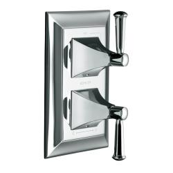 Kohler K-T10422-4S-CP Polished Chrome Memoirs Stacked Valve Trim With Stately Design And Lever Handles, Valve Not Included