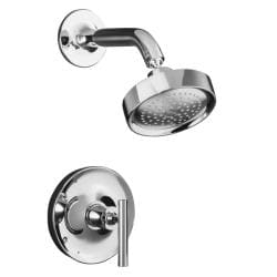 Kohler K-T14422-4-CP Polished Chrome Purist Rite-Temp Pressure-Balancing Shower Faucet Trim w/ Lever Handle, Valve Not Include