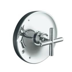 Kohler K-T14423-3-CP Polished Chrome Purist Rite-Temp Valve Trim With Cross Handle, Valve Not Included