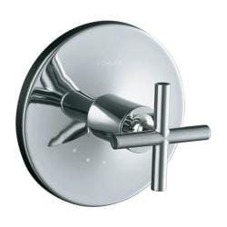Kohler K-T14488-3-CP Polished Chrome Purist Thermostatic Valve Trim With Cross Handle, Valve Not Included