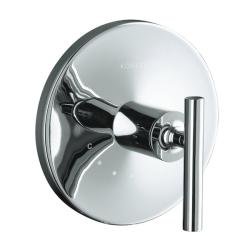 Kohler K-T14488-4-BV Vibrant Brushed Bronze Purist Thermostatic Valve Trim With Cross Handle, Valve Not Included