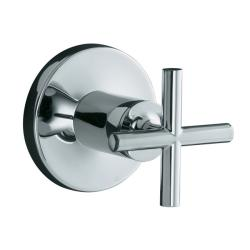 Kohler K-T14490-3-CP Polished Chrome Purist Volume Control Valve Trim With Cross Handle, Valve Not Included