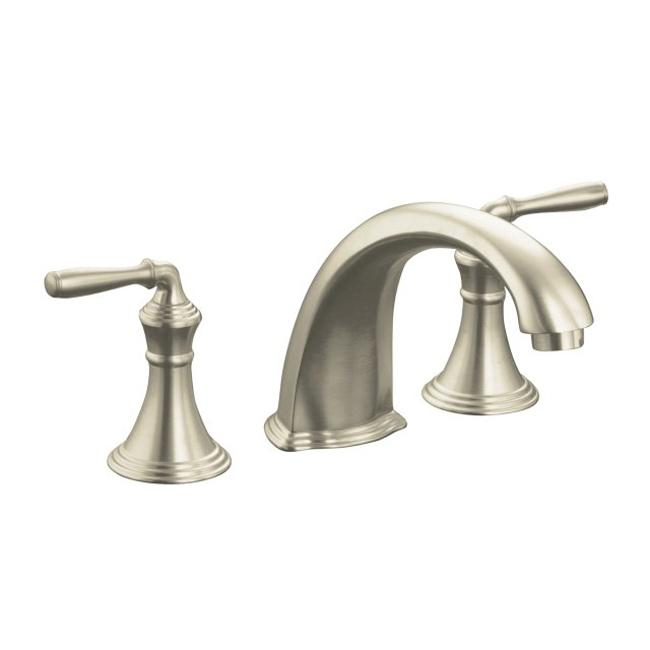 kohler k t398 4 bn vibrant brushed nickel bath faucet trim