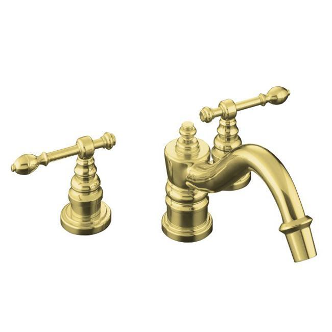Kohler Brass Faucets Bathroom : Kohler K-16102-4-PB Vibrant Polished Brass Revival Widespread Lavatory ...