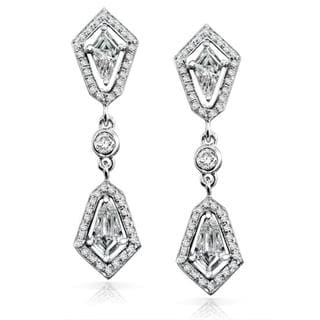 Annello 14k White Gold 7/8ct TDW Diamond Earrings (G-H, SI1-SI2)