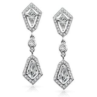 Annello 14k White Gold 7/8ct TDW Diamond Earrings (G-H, SI1-SI2)
