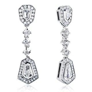 Annello 14k White Gold 1 1/2ct TDW Diamond Earrings (F-G, VS1-VS2)
