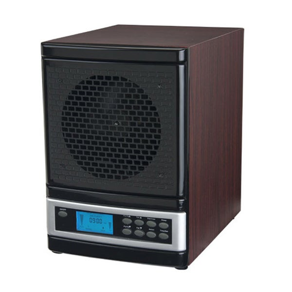 MicroLux Cherry Wood Finish 7-stage UV Ion Air Purifier with Remote 7601900