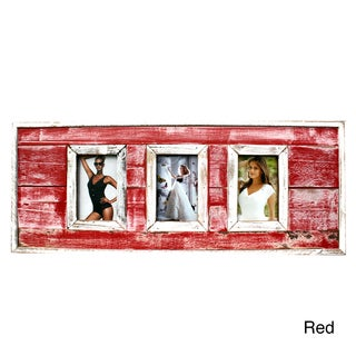 Recycled Boatwood 3-window Picture Frame (Thailand)