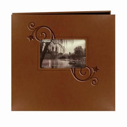 Pioneer Photo Albums Brown Leatherette Memory Book (20 Bonus Pages)