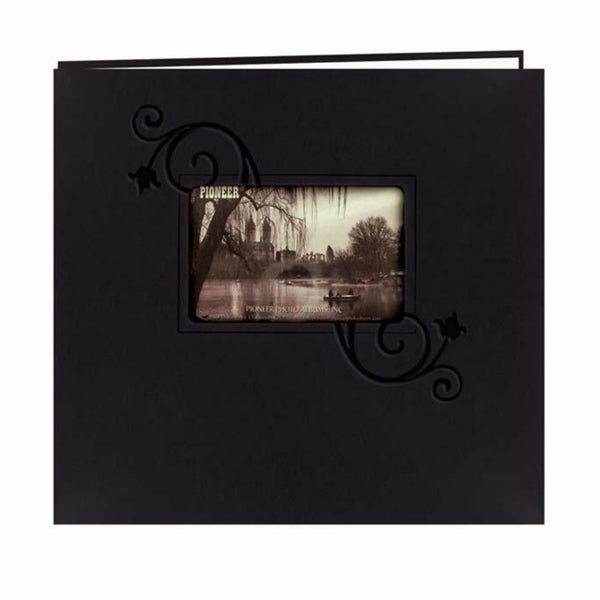 Pioneer Photo Albums 12x12 Black Leatherette Memory Book (20 Bonus Pages)