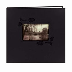 Pioneer Photo Albums Black Leatherette Memory Book (20 Bonus Pages)