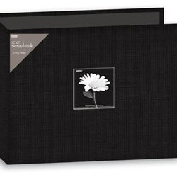 Pioneer 12x12-inch Deep Black 3-Ring Memory Book Binder (20 Bonus Pages)