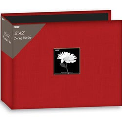 Pioneer 12x12-inch Apple Red 3-Ring Memory Book Binder with Refill Pages