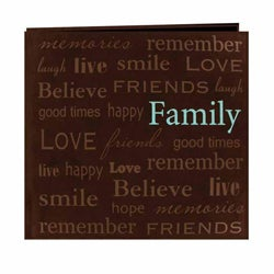 Pioneer Photo Brown PVC-Free Faux-Suede Memory Book (20 Bonus Pages)