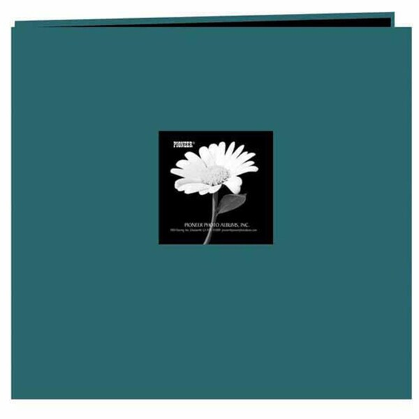Pioneer Photo Teal Frame Fabric Memory Book (20 Bonus Pages)