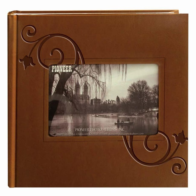 Pioneer 200-Pocket Brown Embossed Leatherette Photo Albums (Pack of Two)
