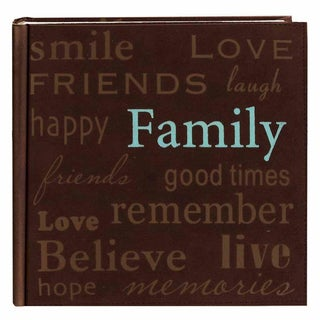 Pioneer Book-style Brown Family Photo Albums (Pack of 2)