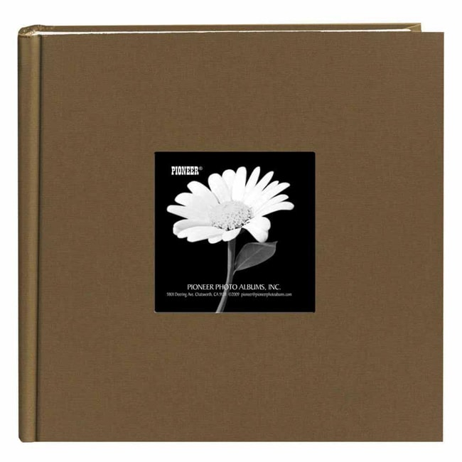 Pioneer Book-style Warm Mocha Frame Photo Albums (Pack of 2)