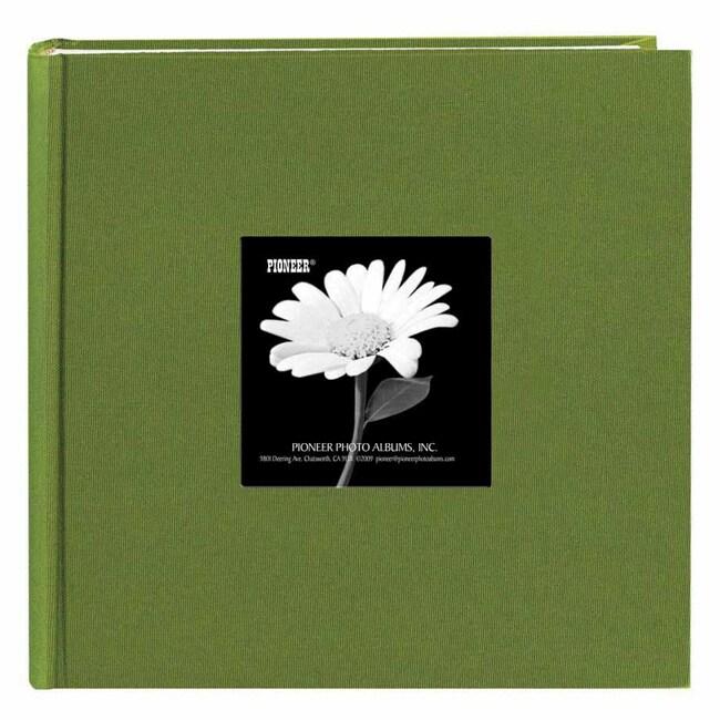 Pioneer Book-style Herbal Green Frame Photo Albums (Pack of 2)